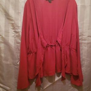 Burgundy bell sleeve blouse size 3x NWOT